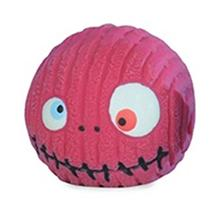 HuggleHounds Ruff-Tex Zombie Head Dog Toy - Pink