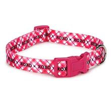Hugs & Kisses Pink Dog Collar