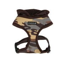 Hunter Hooded Dog Harness by Puppia - Brown Camo