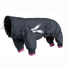 Hurtta Slush Combat Dog Suit - Granite and Raspberry
