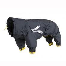 Hurtta Slush Combat Dog Suit - Granite with Bolete Trim
