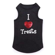 I Heart Treats Dog Tank - Black
