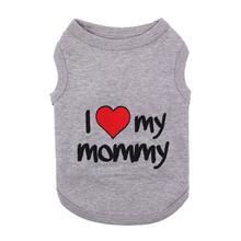 I Love My Mommy Dog Tank - Gray
