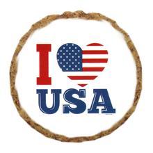 I Love USA Dog Treat Cookie