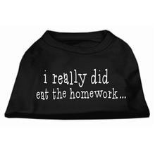 I Really Did Eat The Homework Dog Shirt - Black