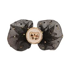Isabella Dog Bow by Pinkaholic - Black