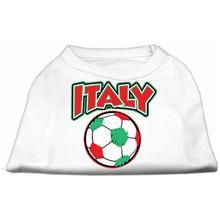 Italy Soccer Print Dog Shirt - White