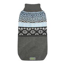 Jacquard Turtleneck Dog Sweater by Go Fresh Pet - Blue