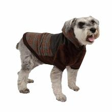 Java Hoodie Dog Jacket by Puppia - Brown