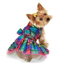 Jewel Tone Plaid Dog Dress