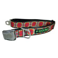Kaleidoscope Metal Latch Dog Collar by Cycle Dog - Red Orange