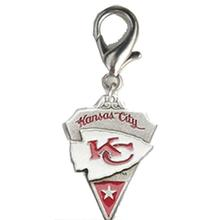 Kansas City Chiefs Pennant Dog Collar Charm