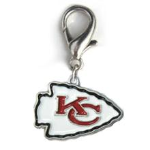 Kansas City Chiefs Logo Dog Collar Charm