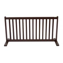 "Kensington Wood Free Standing 20"" Slide Dog Gate - Mahogany"