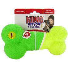 KONG ON/OFF Squeaker Dog Toy - Green Bone