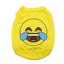 Laugh until Crying Emoji Dog Shirt - Yellow
