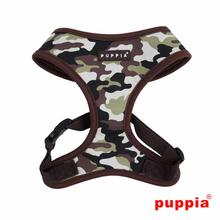 Legend Adjustable Dog Harness by Puppia - Brown Camo