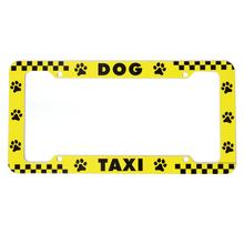 License Plate Frame - Dog Taxi