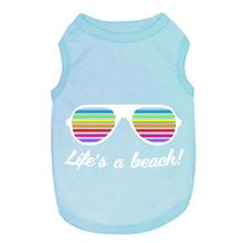 Life's a Beach Dog Tank - Blue