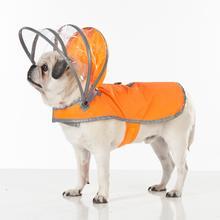 Lightning Line Dog Raincoat - Safety Orange