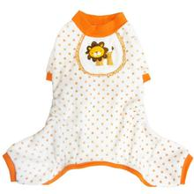 Lion Dog Pajamas - Orange