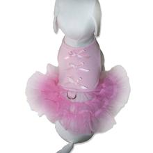 Little Ballerina Tutu Dog Harness Dress w/ Leash - Light Pink