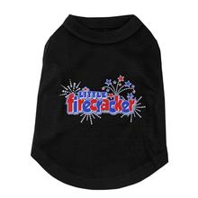 Little Firecracker Dog Tank - Black