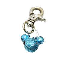 Lobster Claw Bell Collar Charm - Aqua