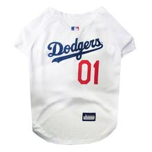 Los Angeles Dodgers Officially Licensed Dog Jersey - White
