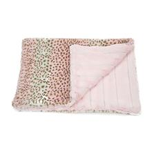 Luca Cuddle Mat Dog Bed - Cheetah Pink with Chinchilla Pink