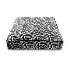 Luca Luxe Rectangle Dog Bed - Black Zebra
