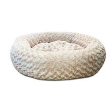 Luca Plush Nest Dog Bed - Cream English Rose