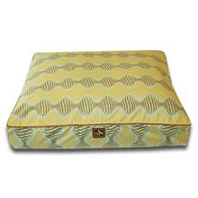 Luca Luxe Rectangle Dog Bed - Spirals