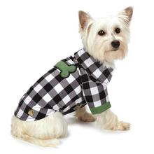 M. Isaac Mizrahi Gingham Camp Dog Shirt