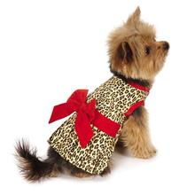 M. Isaac Mizrahi Leopard Bow Dog Dress