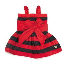 M. Isaac Mizrahi Stripe Dog Dress - Red and Black