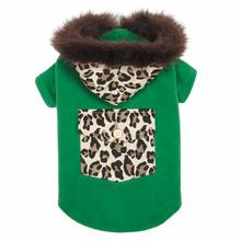 M. Isaac Mizrahi Luxe Leopard Dog Coat - Green