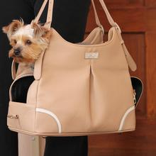 Madison Mia Michele Mocha Faux Pebble Dog Carry Bag