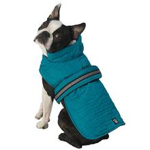 Madison Quilted Dog Parka - Teal