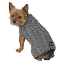 Marley's Cable Dog Sweater - Gray