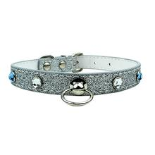Medieval Stones Dog Collar - Silver