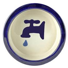 Melia Water Tap Ceramic Pet Bowl - Moody Dark Blue