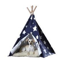 Merry Pet Teepee - Blue with White Stars