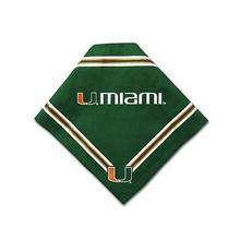 Miami Hurricanes Dog Bandana - Green