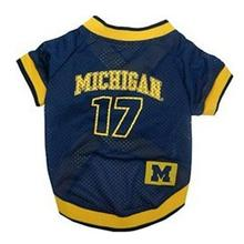 Michigan Wolverines Dog Jersey - # 17 with Patch