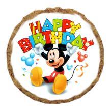 Mickey Mouse Happy Birthday Dog Treat Cookie