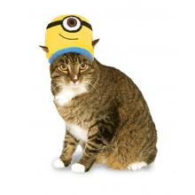 Minion Knit Cat Hat Costume - Stuart