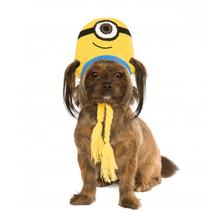 Minion Knit Dog Hat Costume - Stuart