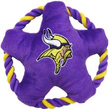 Minnesota Vikings Rope Disc Dog Toy
