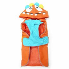 Monster Dog Raincoat by Dogo - Orange